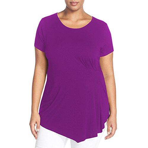PZZ Womens Irregular Blouse T shirt
