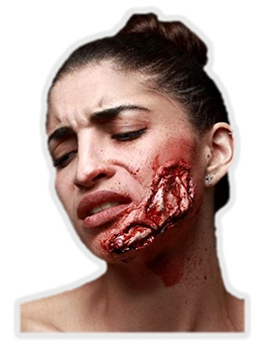 Ghoulish Productions Blasted Cheek Latex Appliance Adult Halloween Gash Wound Prosthetic Make-up]()