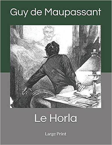 Télécharger livre Le Horla: Large Print pdf gratuit