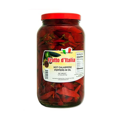 Calabrese Chili Peppers in Oil - 5.7 Lb Jar