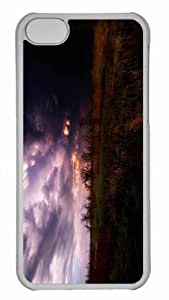Customized iphone 5C PC Transparent Case - Dark Storm Clouds Personalized Cover