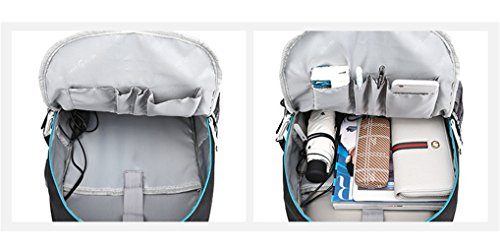 YOYOSHome Luminous Japanese Anime Cosplay Daypack Bookbag Laptop Bag Backpack School Bag with USB Charging Port (Fullmetal Alchemist 1) by YOYOSHome (Image #4)