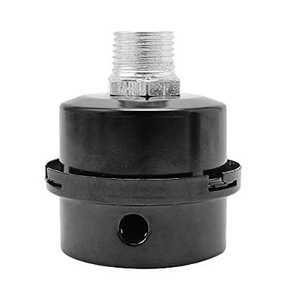 SODIAL(R) 3/4inch 20mm Thread Metal Air Compressor Intake Filter Noise Muffler Silencer