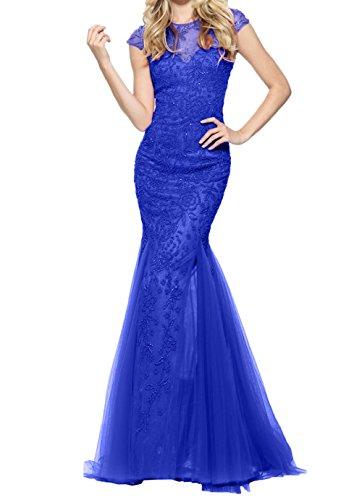 Blau Pink Brautmutterkleider Abendkleider Charmant Lang Jugendweihe Royal Steine Damen Kleider Meerjungfrau vxwICq4I5