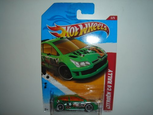 2012 Hot Wheels Thrill Racers - City Stunt '12 Citroen C4 Rally Green #198/247 by Mattel
