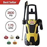 Realm BY02-BIMK 2600PSI 1.75GMP 14.5AMP Electric Pressure Washer with Brushless Induction Motor