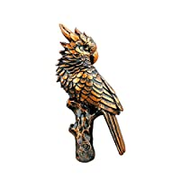 FLYING BALLOON Vintage Parrot Shaped Resin Wall Mounted Key Holder Coat Hook Rack for Home Entrance