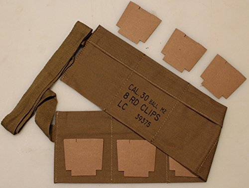 M1 GARAND BANDOLIER WITH CARDBOARD INSERTS, used for sale  Delivered anywhere in USA