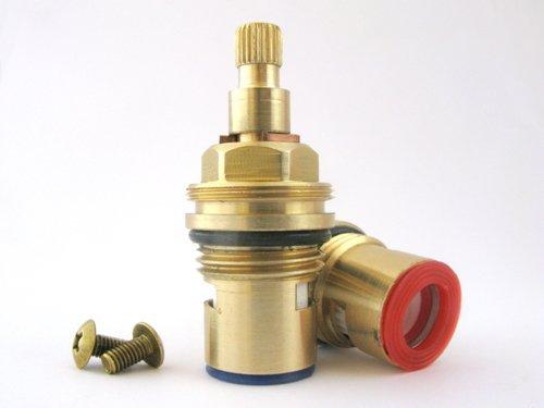 Replacement Brass Ceramic Disc cartridge Faucet Valve Quarter turn PAIR 1/2