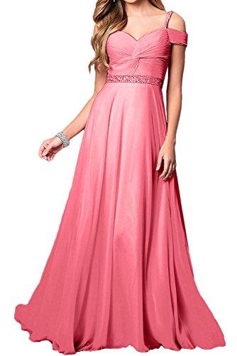 Ivydressing Damen Elegant Chiffon Lang Abendkleider ALinie Festkleid ...