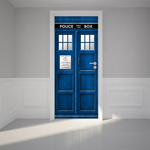 tardis door sticker - 2