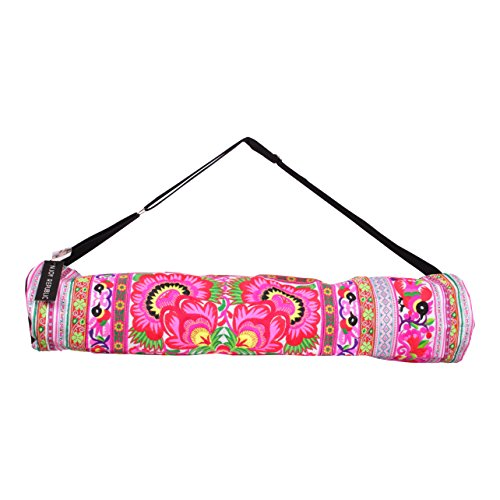 NJOY REPUBLIC Handmade Embroidered Yoga Travel Bag (Pink)