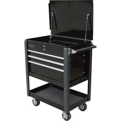 Homak 35-Inch Professional Series 4-Drawer Service Cart, Black, ()