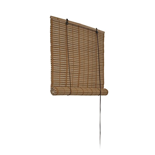 ALEKO Brown Bamboo Up Shades Privacy 36 X Inches