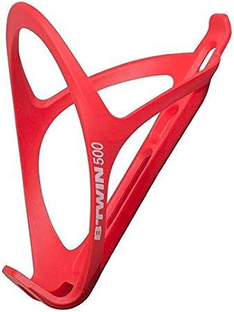 B twin 500 ciclismo botella jaula, rojo: Amazon.es: Deportes y ...
