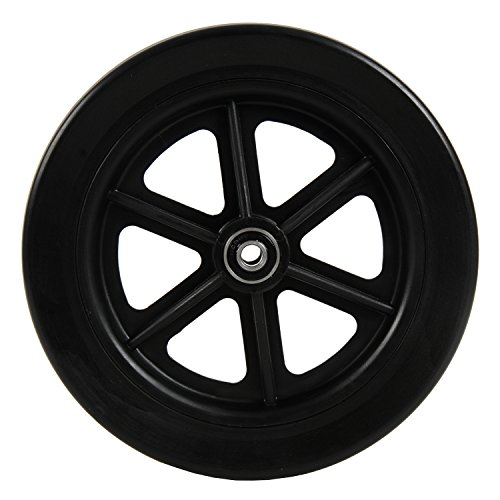 (7 inch by 1 inch Black Replacement Wheel for Swivelmate Knee Walker, Wheelchairs, Rollators, Walking Frames and More, 7