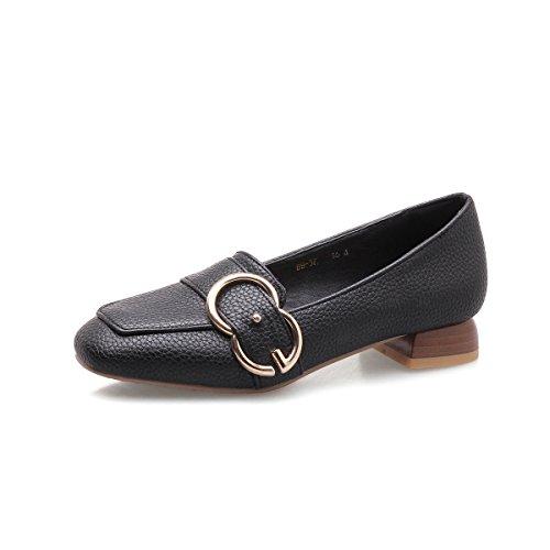 LSM-Talons MEI&S Femmes Bloc carré Peu Profond Tête Bouche Chaussures Black Nr8TU6YdT