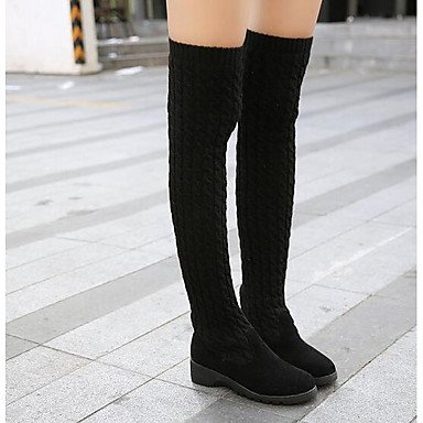 Para Zapatos Lana Invierno Marrón Talón Chunky UK3 Mujer Casual Tobillo 5 De US5 De 5 Sobre Otoño RTRY Botas De Botines Botas Botas La De Moda EU36 Botas Gris Negro CN35 Rodilla 18Iwd44qy