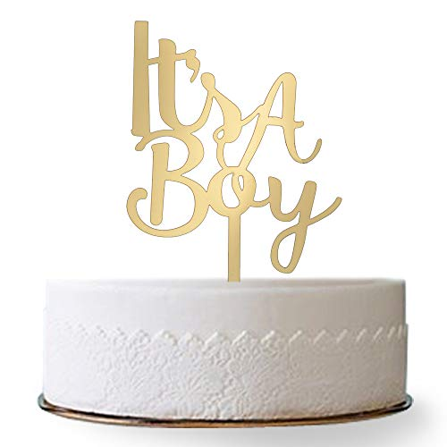 Firefairy It's A Boy Acrylic Cake Topper for Boy Baby Shower, Birthday Party Decorations( -