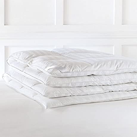 Alexander Comforts Strasbourg Medium Weight White Down Comforter Queen