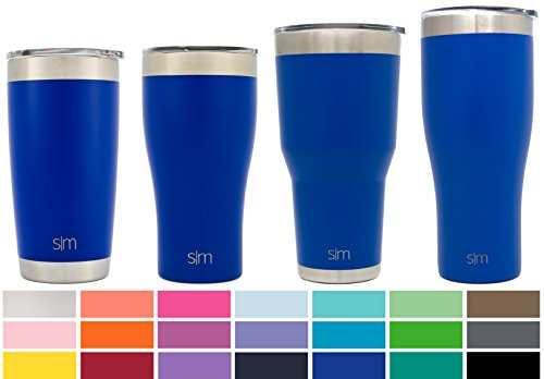 Simple Modern 22oz Slim Cruiser Tumbler - Vacuum Insulated Double-Walled 18/8 Stainless Steel Hydro Travel Mug - Powder Coated Coffee Cup Flask - Twilight Blue