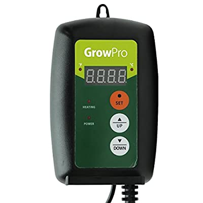 Grow Pro Digital LED Thermostat Seedling Cloning Seed Germination Heat Mat Temperature Controller Probe