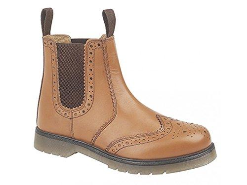 Men's tamaño de la funda de para detalles perforados concesionario de piel marrón 6 marrón - canela