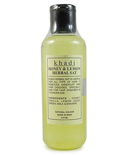 Khadi Honey & Lemon Herbal Sat Natural Color Remove Dandruff All Type Skin 210ml