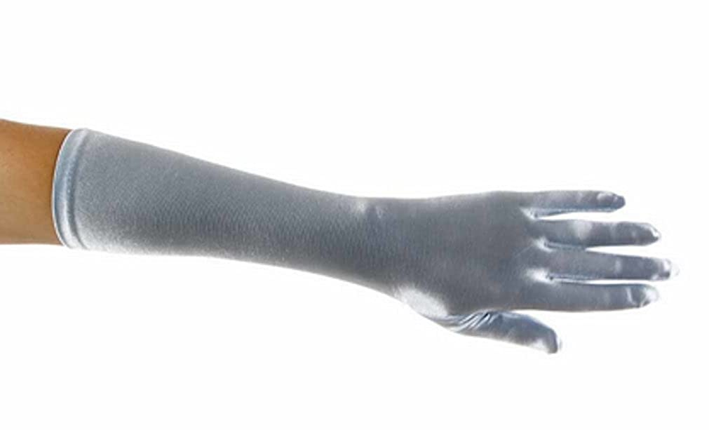 L C Boutique Girls Elbow Length Satin Gloves
