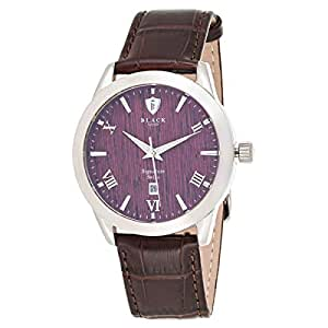 Black Royale Men's Wood Dial Leather Band Watch - BR2015SWD