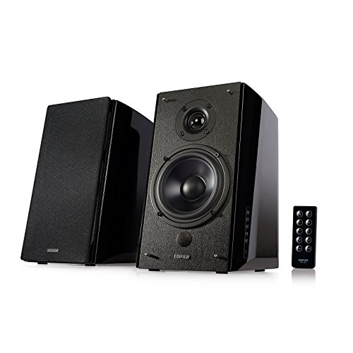 Edifier R2000DB Powered Bluetooth Bookshelf Speakers - Near-Field Studio Monitors - Optical Input - 120 Watts RMS - Black