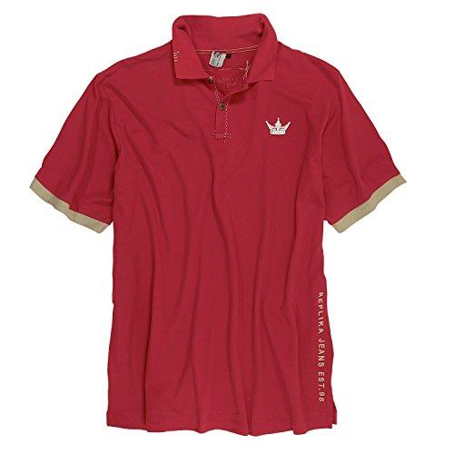 Rotes Übergrößen Poloshirt von Replika, 3XL, 6XL