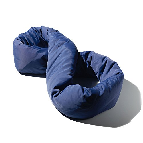 Huzi Infinity Pillow - Design Travel Pillow and Soft Neck Support Pillow - Machine Washable (Navy)