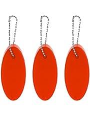 Baoblaze paket 3 segling segling båt kajak simma flytande oval nyckelring boj – kompakt, lätt, bärbar och hållbar