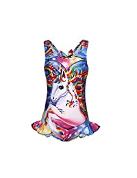 LQSZ Unicorn Swimsuit Unicorn Swimwear One Piece Suits for Girls Toddler Summer Beach Outfit