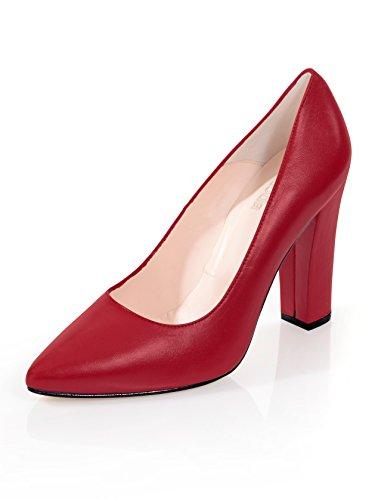 Alba Moda Damen Pumps IM Klassischen Stil Rot
