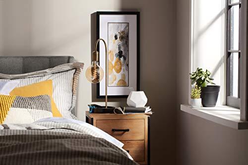 GE Globe LED Vintage Light Bulb, G40 Amber Glass LED Edison Bulb (60 Watt Replacement Dimmable LED Light Bulbs), 250 Lumen, Medium Base Light Bulbs, 1-Pack E26 Edison Bulb