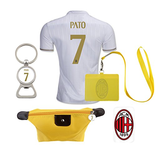 #7 Pato (6 in 1 Combo) A.C. Milan Away Match Adult Soccer Jersey 2016-17 - Pato Ac Milan