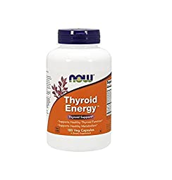 NOW Foods Thyroid Energy Veg Capsules (180 Capsules, Pack of 1)