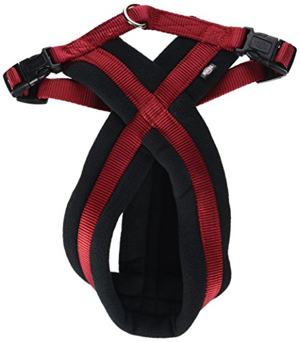 Trixie Premium Harness with Fleece Padding, S to M, 40-60 cm x 20 mm, Red ()