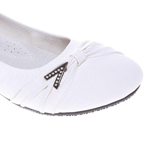 La Modeuse - Bailarinas para mujer blanco