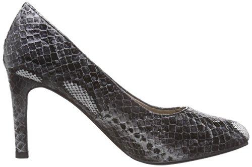 s.Oliver 22401, Chaussures de Football Femme Noir - Schwarz (Blk/Wht Snake 057)