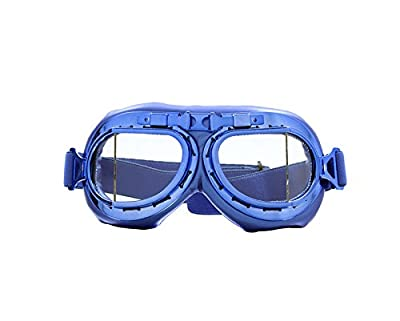 CRG Sports Vintage Aviator Pilot Style Motorcycle Cruiser Scooter Goggle T08 T08BCB - Parent from CRG Sports