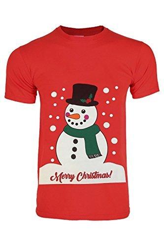 Be Jealous Mens Christmas Penguin Horn Snowman Snowflakes Santa Reindeer Pullover Round Crew Neck T Shirt