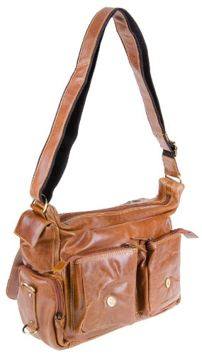 Greenburry Expedition bolso bandolera piel 36 cm brown