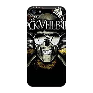 iphone 4s ByV14195axKb Provide Private Custom Vivid Black Veil Brides Series Shockproof Cell-phone Hard Cover -SherriFakhry