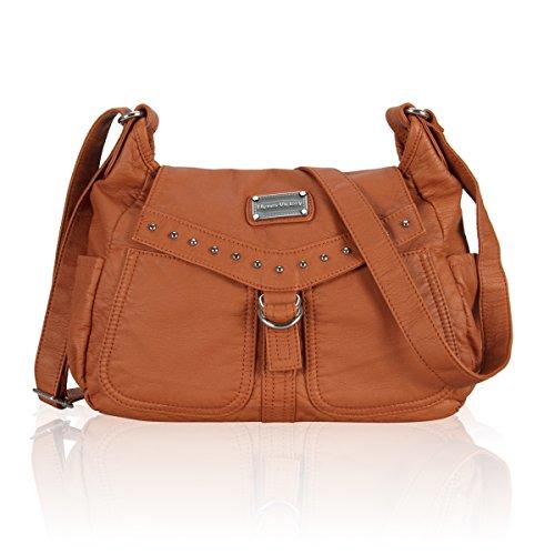 Hynes Victory Women Classic Cross-Body Bag (B-Orange Brown)