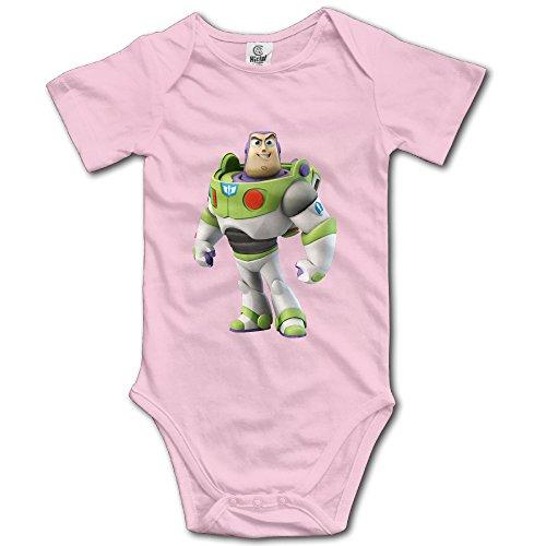 Kids Toy Story Buzz Lightyear Baby Bodysuit Rompers Little Boys Girls 100% Cotton 6 M Pink (Baby Buzz Lightyear)