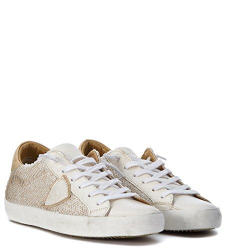 Sneaker Philippe Model Classic en piel opaca blanca Bronce