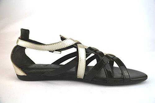 HOGAN sandali donna t.moro platino vernice pelle AH672